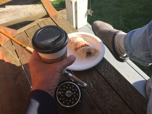Jay Nicholas morning at Woods Cabin e