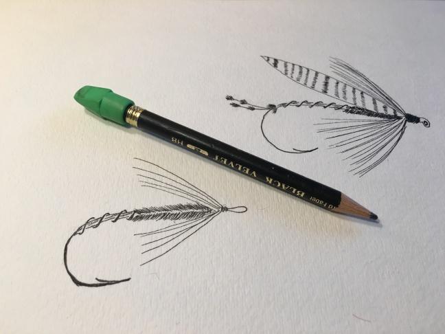 Jay Nicholas cuttroat fly sketch 082516