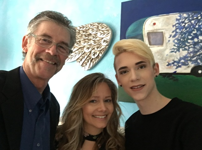 Jay Nicholas with Lisa and Courtney