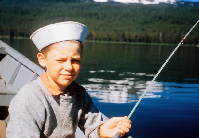 Jay Nicholas fishing circa 1954 0217