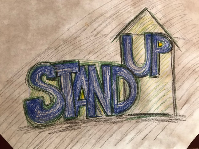 Jay Nicholas Stand Up Art by Lisa